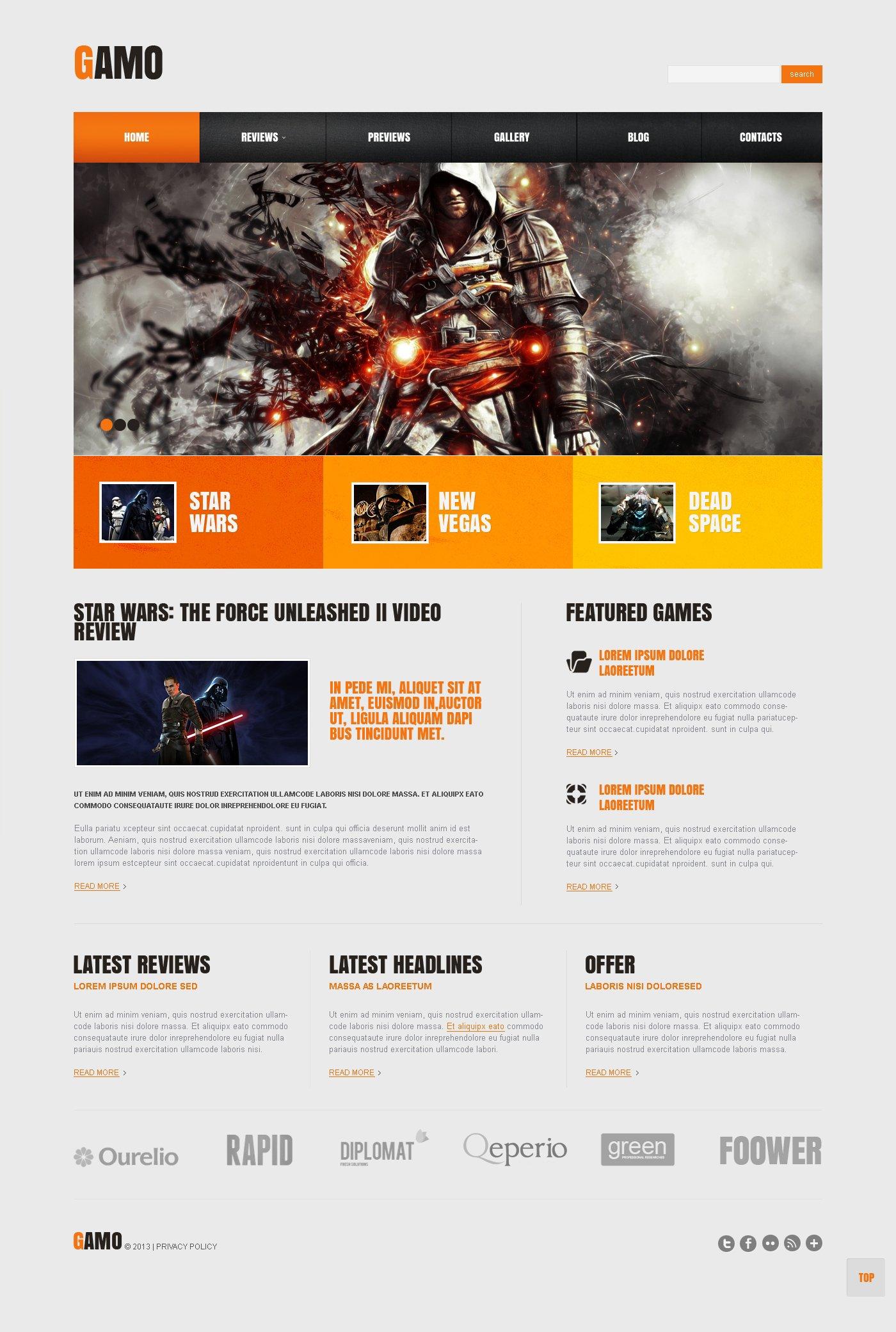 Responsive Oyun Portalı Wordpress #45518 - Ekran resmi