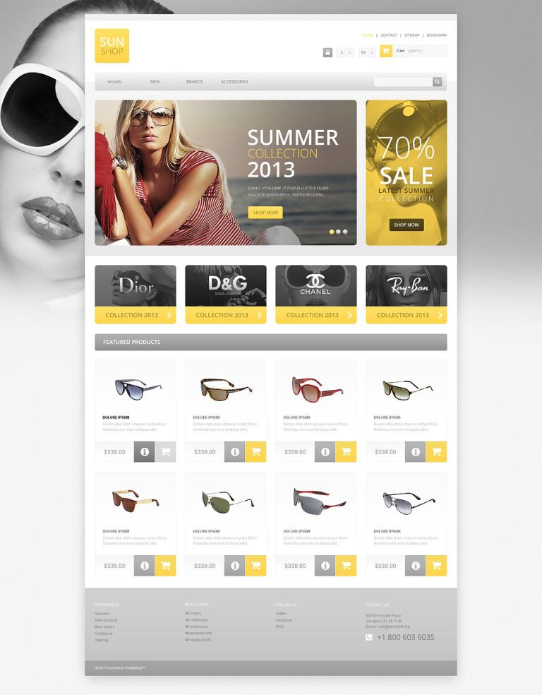 Responsive Sun Shop PrestaShop Theme New Screenshots BIG