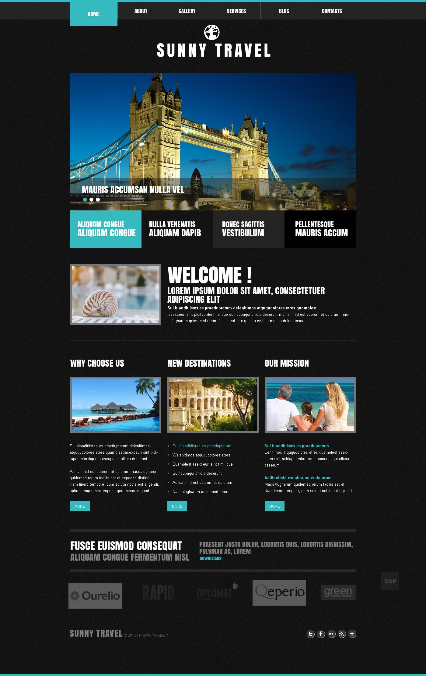 Reszponzív Utazási iroda témakörű Joomla sablon 45500 - képernyőkép