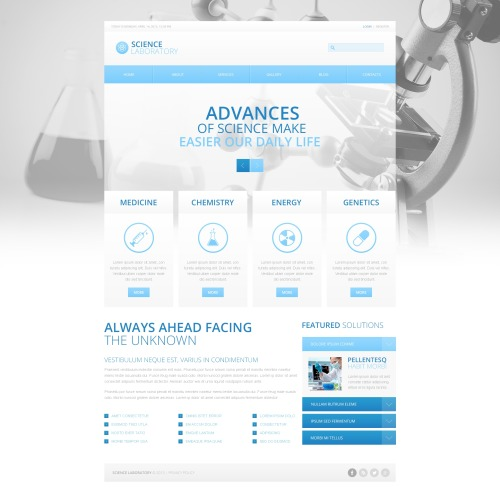Science Laboratory - HTML5 Drupal Template