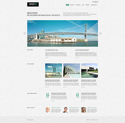 Joomla Theme/Template 45601 Main Page Screenshot