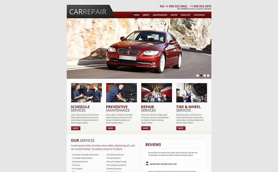 Template Moto CMS HTML para Sites de Concerto de Carros №45607 New Screenshots BIG