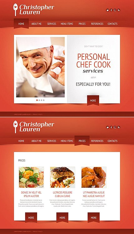 ADOBE Photoshop Template 45609 Home Page Screenshot