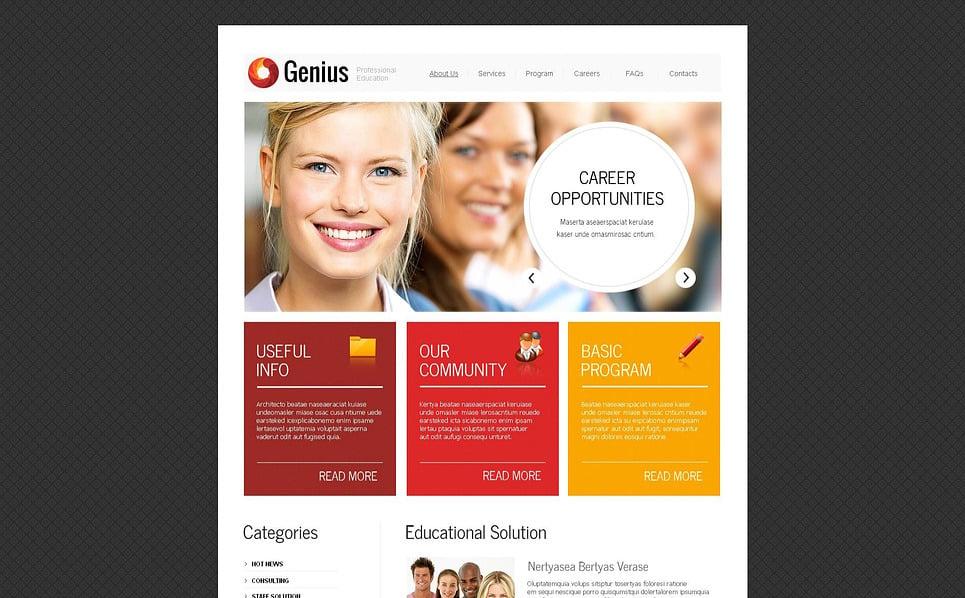 MotoCMS HTML шаблон на тему школа бізнесу New Screenshots BIG