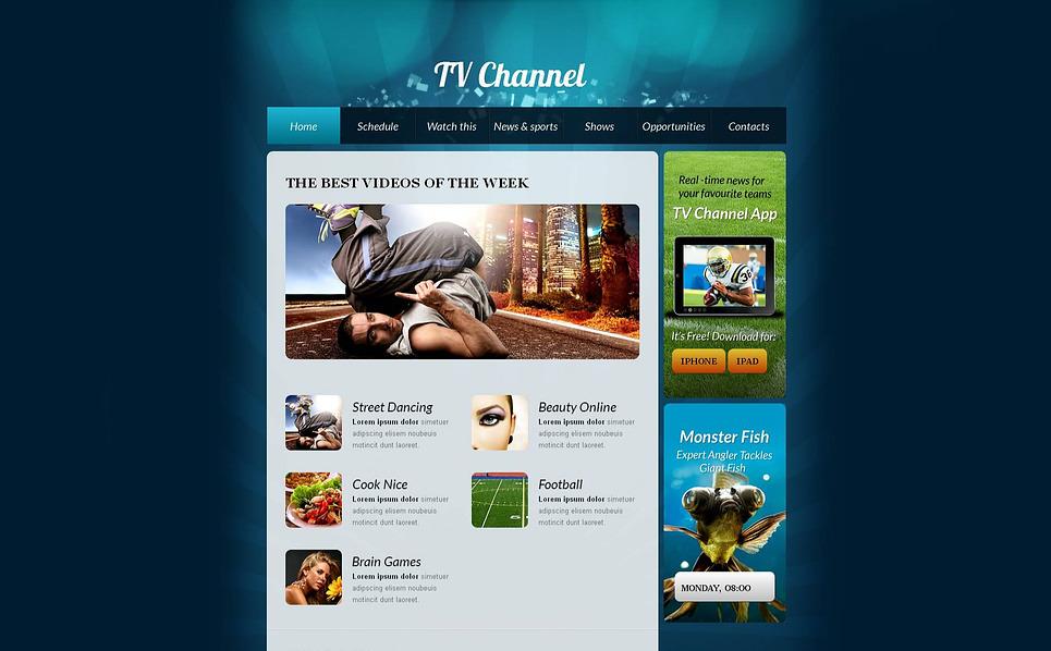 MotoCMS HTML шаблон на тему tv канали New Screenshots BIG