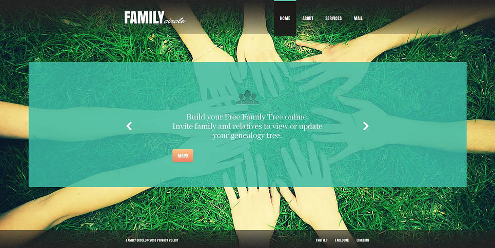 Family Website Template with Transparent Content Pages - image