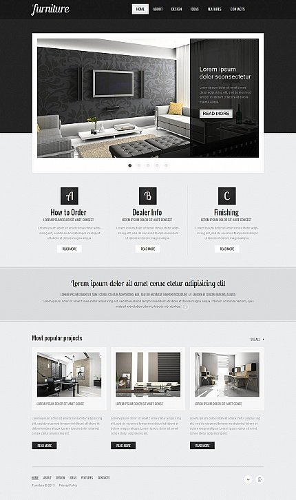 ADOBE Photoshop Template 45623 Home Page Screenshot