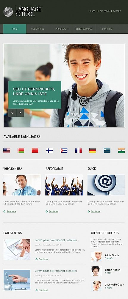 ADOBE Photoshop Template 45624 Home Page Screenshot