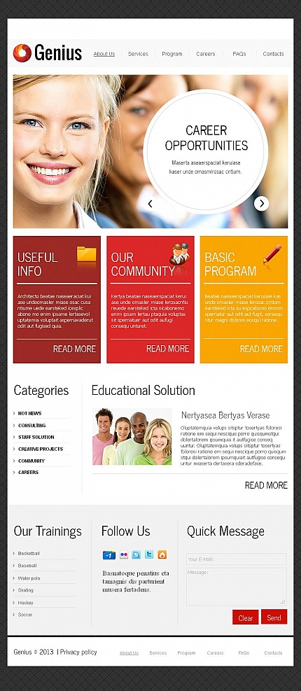 ADOBE Photoshop Template 45632 Home Page Screenshot