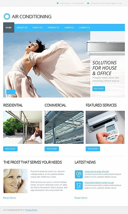 ADOBE Photoshop Template 45640 Home Page Screenshot
