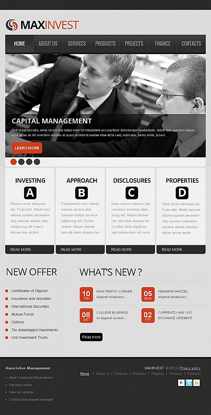 ADOBE Photoshop Template 45641 Home Page Screenshot