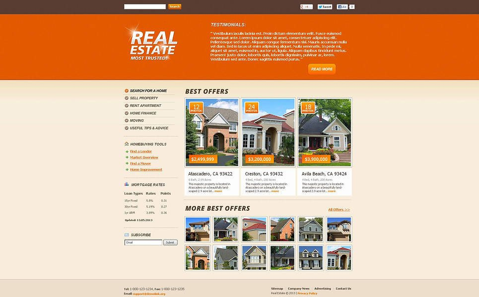 Template Flash CMS para Sites de Agencia imobiliária №45644 New Screenshots BIG