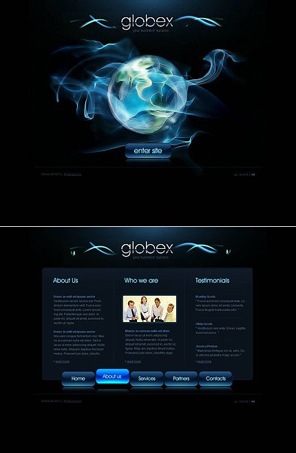 ADOBE Photoshop Template 45645 Home Page Screenshot