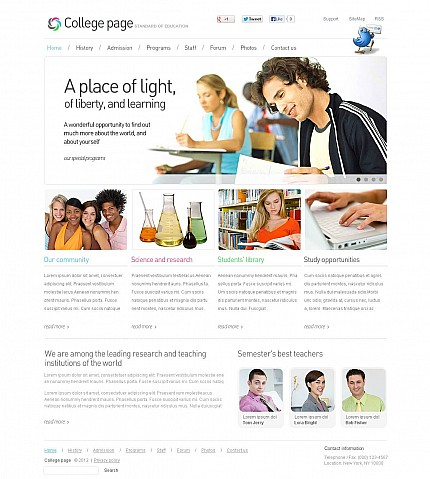 ADOBE Photoshop Template 45647 Home Page Screenshot