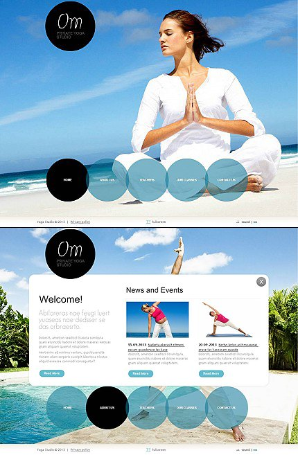 ADOBE Photoshop Template 45649 Home Page Screenshot