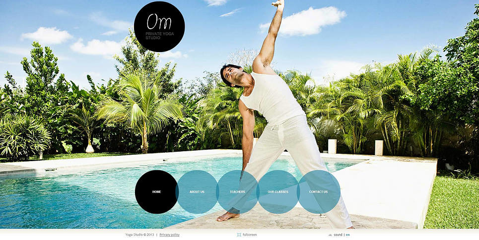 Premium Flash CMS Template over Yoga New Screenshots BIG