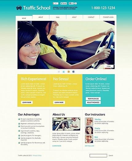 ADOBE Photoshop Template 45651 Home Page Screenshot