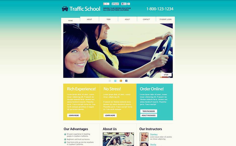 Szablon Flash CMS #45651 na temat: szkoła jazdy New Screenshots BIG