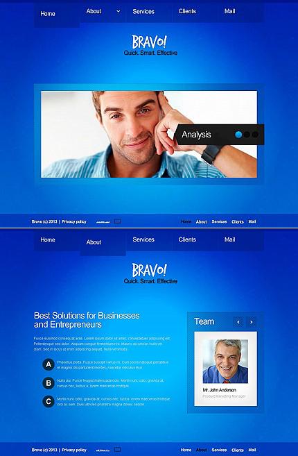 ADOBE Photoshop Template 45654 Home Page Screenshot