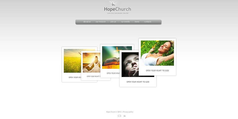Template Flash CMS para Sites de Religião №45659 New Screenshots BIG