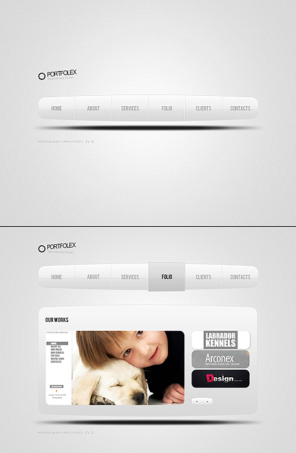 ADOBE Photoshop Template 45660 Home Page Screenshot