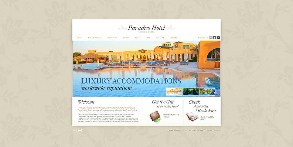 Premium Flash CMS Template over Hotels  New Screenshots BIG