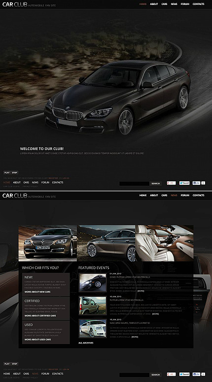 ADOBE Photoshop Template 45664 Home Page Screenshot