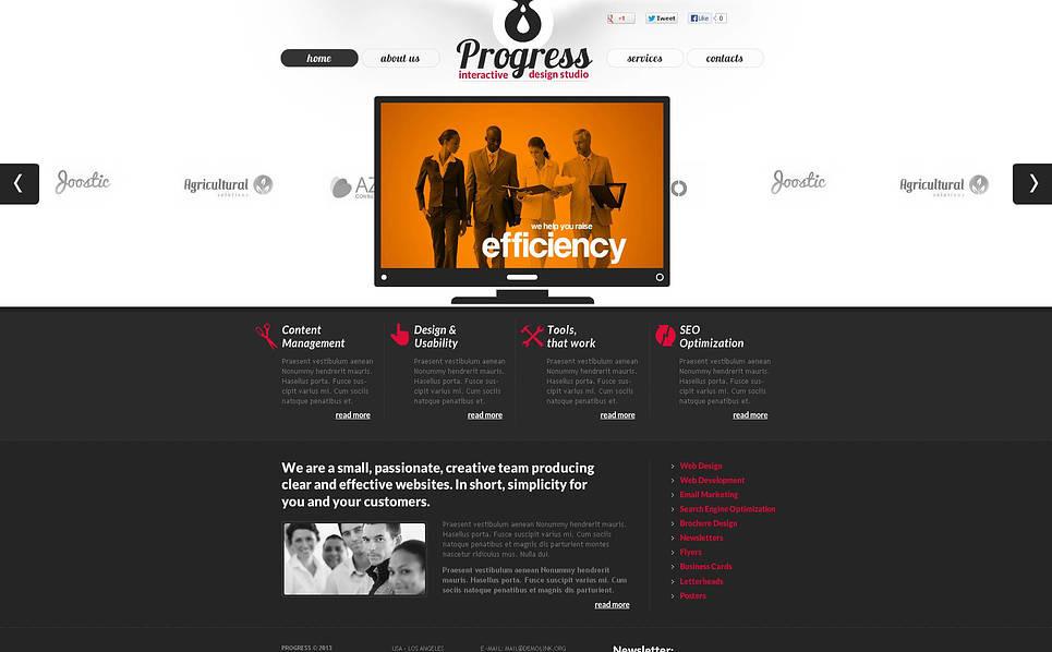 Modello Flash CMS  #45665 per Un Sito di Design Studio New Screenshots BIG