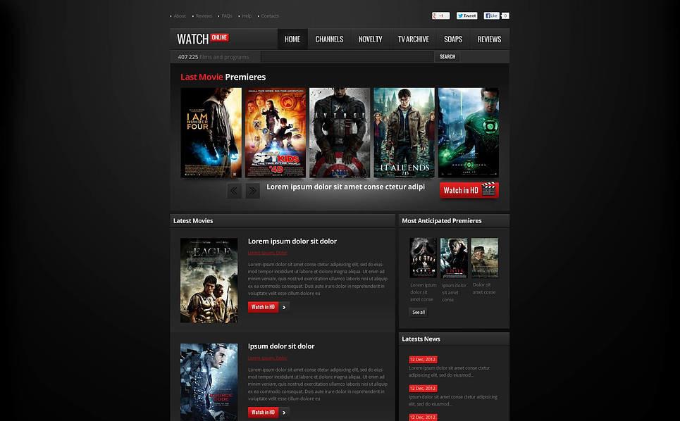 Flash CMS шаблон на тему кіно New Screenshots BIG