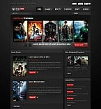 Entertainment Flash CMS  Template 45666