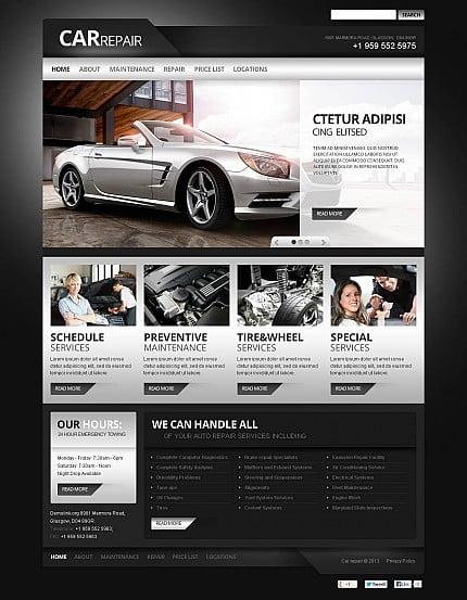 ADOBE Photoshop Template 45669 Home Page Screenshot
