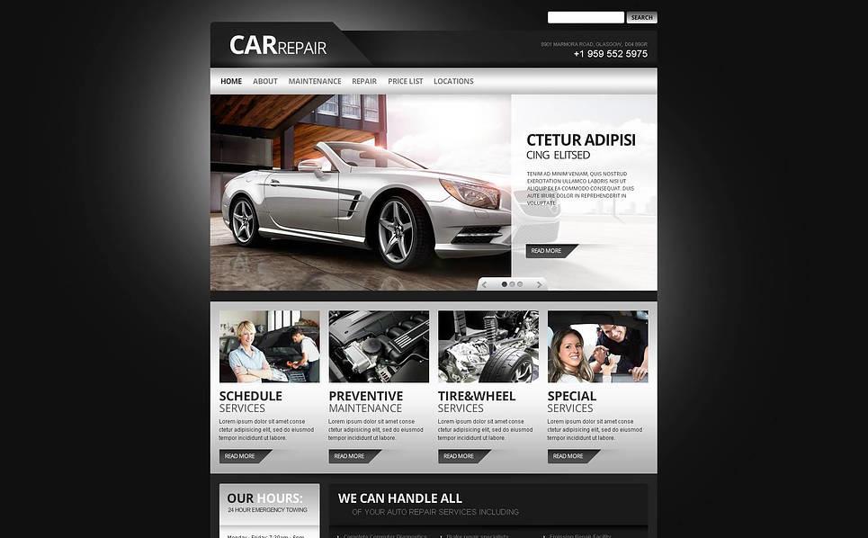 Modèle Flash CMS  pour site de réparation de voitures New Screenshots BIG