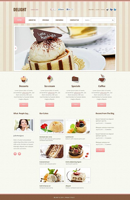 ADOBE Photoshop Template 45671 Home Page Screenshot