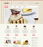 Cafe & Restaurant Flash CMS  Template 45671