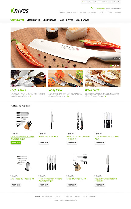 ZenCart Template 45675 Main Page Screenshot