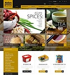 Food & Drink ZenCart  Template 45677