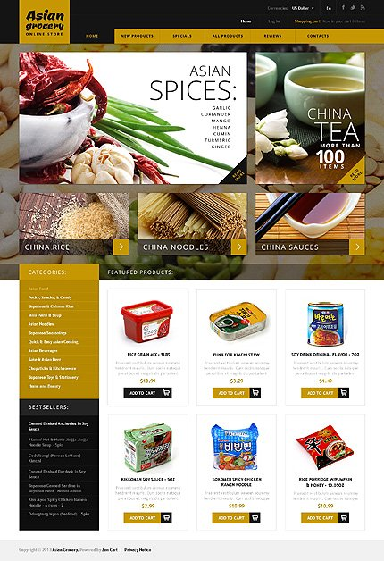 ZenCart Template 45677 Main Page Screenshot