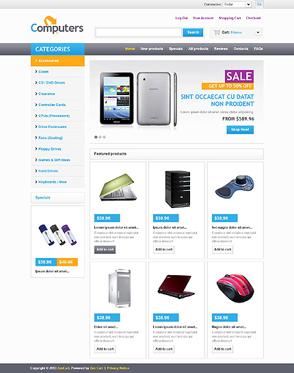 ZenCart Template 45680 Main Page Screenshot