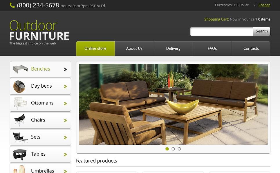 "VirtueMart Vorlage namens ""Gartenmöbel "" New Screenshots BIG"