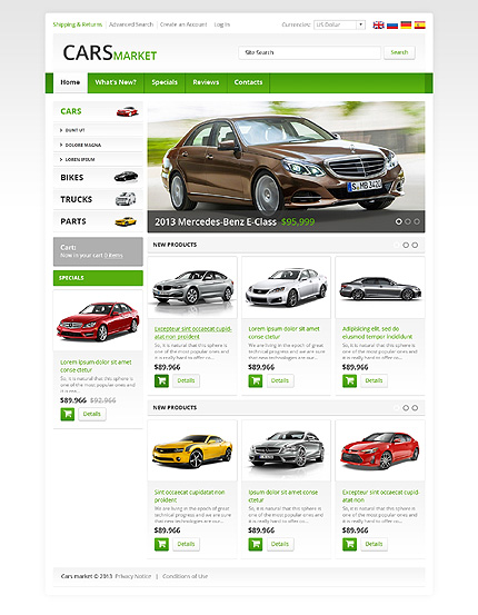 osCommerce Template 45696 Main Page Screenshot