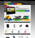 Computers osCommerce  Template 45698