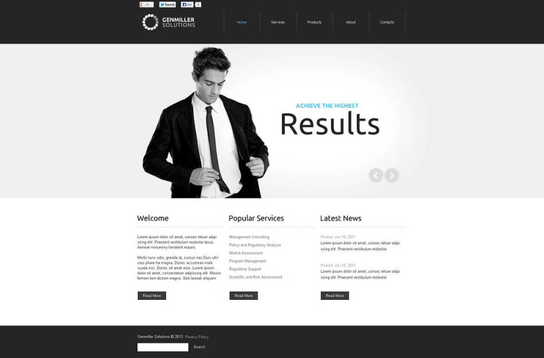 Accounting Website Flash CMS Template New Screenshots BIG