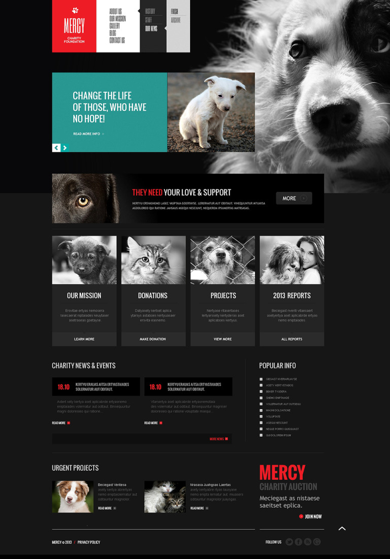 Animal Shelter Responsive Joomla Template New Screenshots BIG