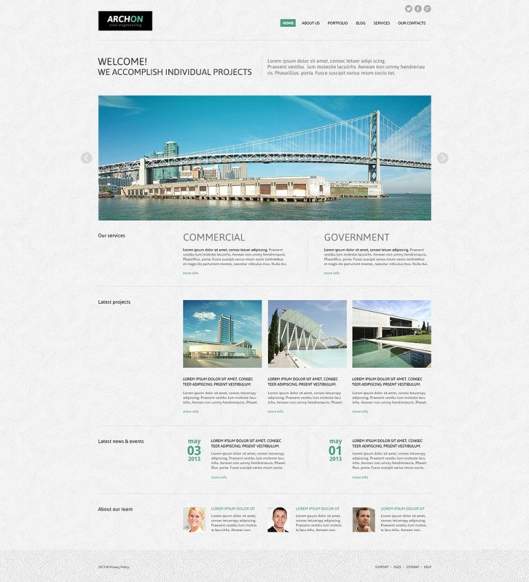 Archon Joomla Template New Screenshots BIG