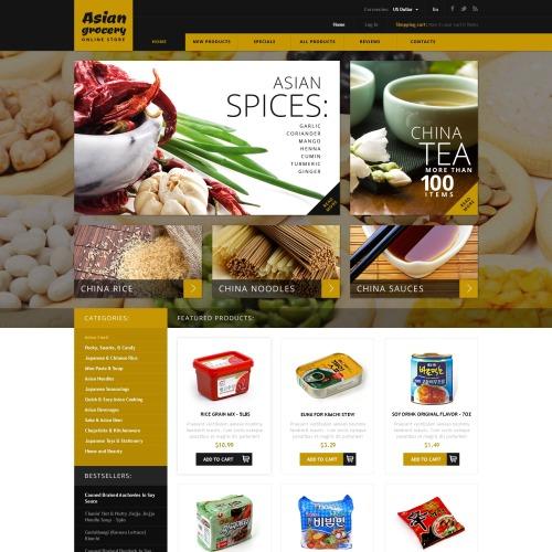 Asian Spices - HTML5 ZenCart Template