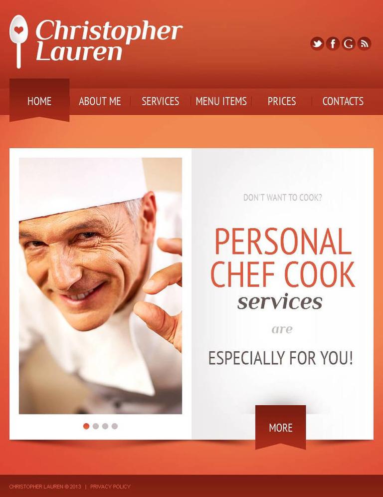 Cooking Facebook HTML CMS Template New Screenshots BIG