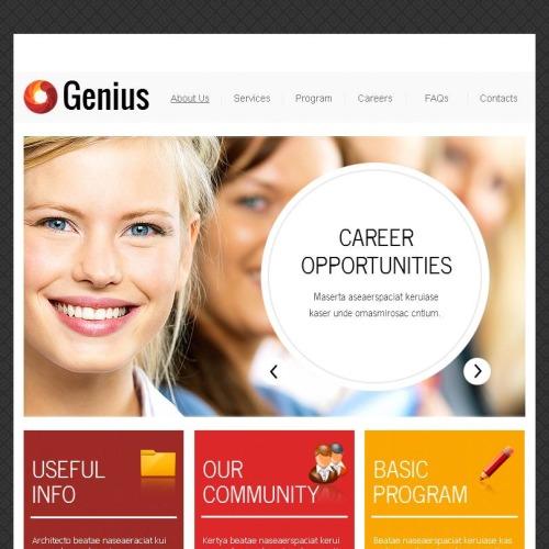 Genius - Facebook HTML CMS Template