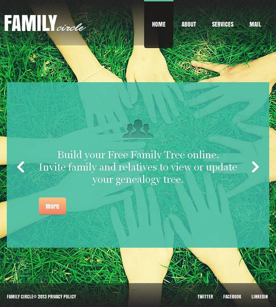 Family Center Facebook Html Cms Template 45639