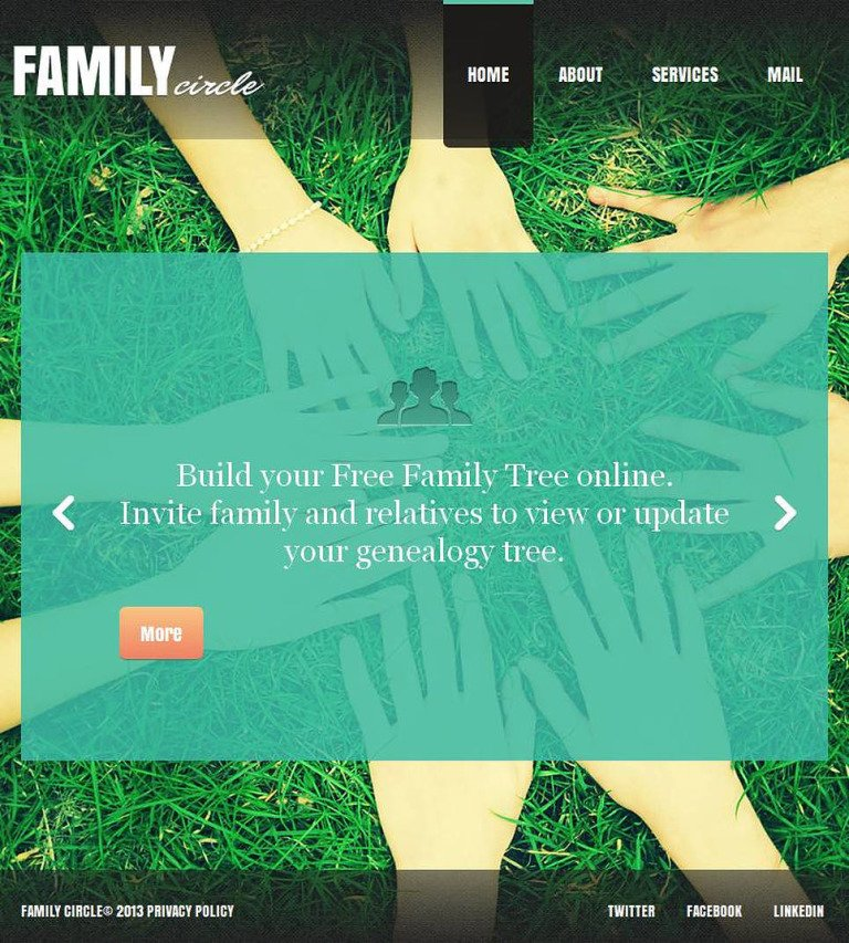 Family Center Facebook HTML CMS Template New Screenshots BIG