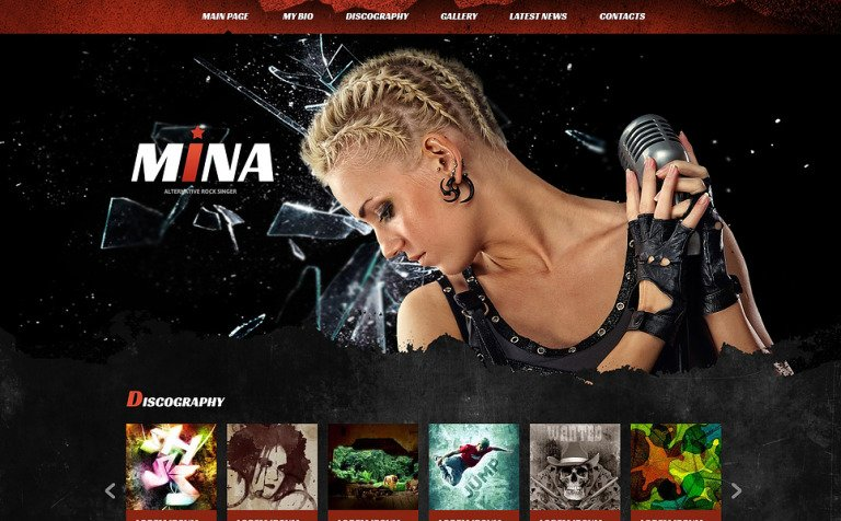 Fashionable Singer Joomla Template